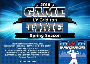 LV Gridiron Adult Flag Football Registering for the Spring Season