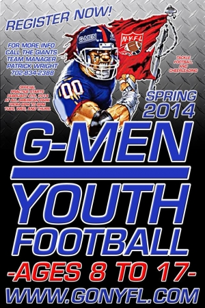 NYFL G-Men Youth Football Team Looking for Players
