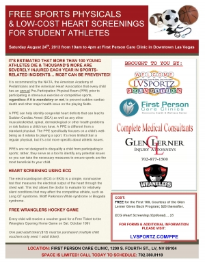Free Sports Physical & Heart Screening Event to Be Held for Local Student Athletes