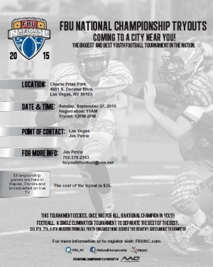 Football University Team Las Vegas Tryouts #2