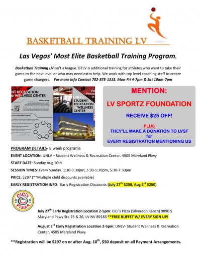 Basketball Training LV 8 Week Basketball Camp - LVSF Special Promo Extended!