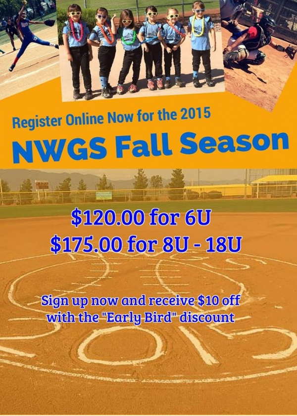 Northwest Girls Softball Registering for Fall 2015