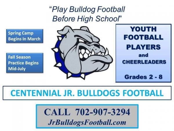 Centennial Jr Bulldogs Youth Football Team Looking for Players