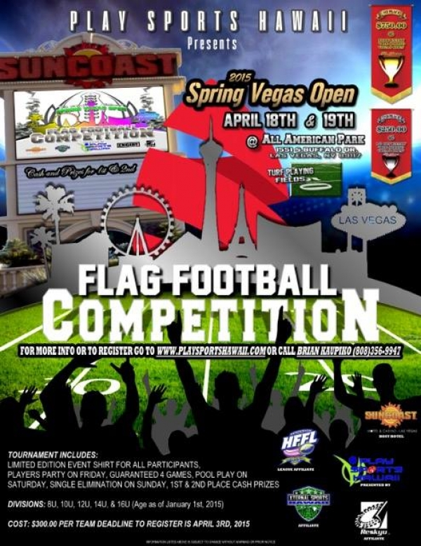 2015 National Spring Vegas Open Flag Football Tournament