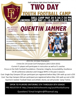 Faith Lutheran Youth Football Camp