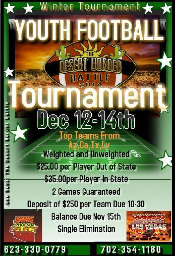 Desert Border Battle Winter Youth Football Tournament